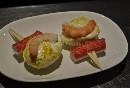 Banderilla huevo, gamba y palito de cangrejo