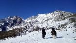 Ruta sobre nieve
