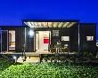 Vista-nocturna-bungalow-ponent-las-dunas-costa-brava-