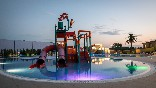Zonsondergang-zwembad-las-dunas