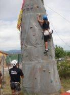 Escalada en rocódromo de 6 metros