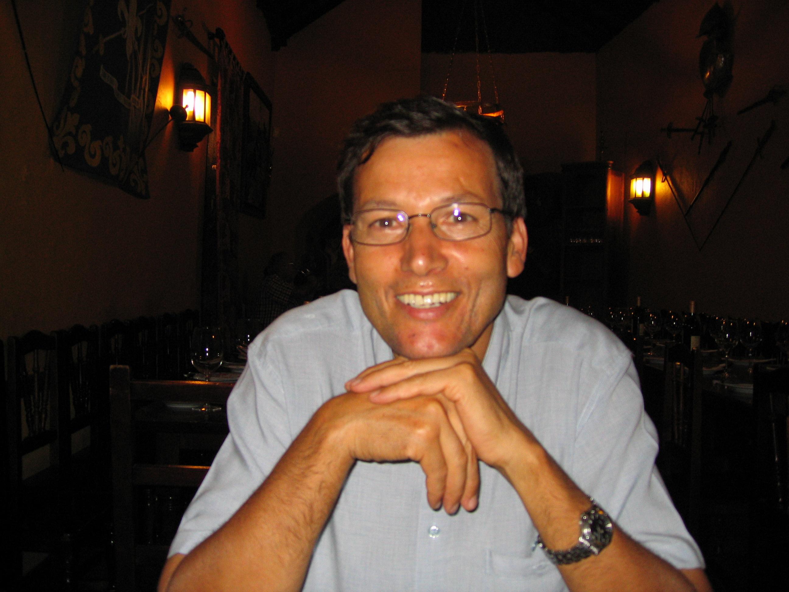 Imagen de Pedro Carreño que es propietario de Las Portadas . Fimbapaire