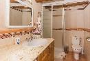 Baño apartamento rústico