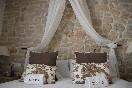 Romantic rustic bed