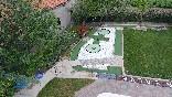 Vista aérea del jardín de la casa rural Casa Salva - Piscina privada y minigolf