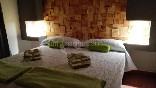Habitación decoración en tonos verdes