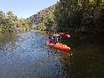 Pareja Kayak rio Sil