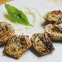 Alcachofas a la plancha, bergamota y albahaca