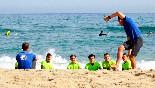 Clases de surf antes de ir al agua